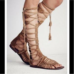 Free people tall gladiator sandals sun seeker boho